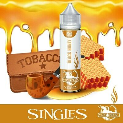 Eliquid Vape Piper Singles BLACK HONEY 50ml - 0mg - TPD