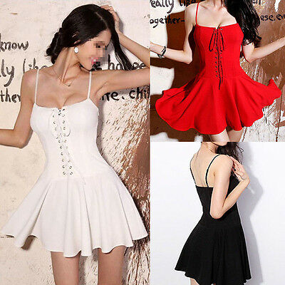 New Sexy Women Summer Casual Sleeveless Party Evening Cocktail Mini Dress IK