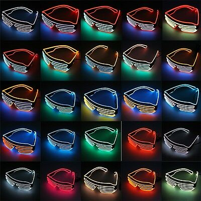 Glow LED Glasses Light Up Shades Flashing Rave Festival Party Glasses Lq