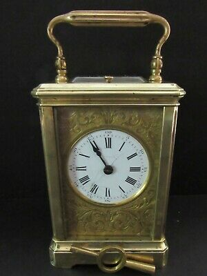 Antique French  Carriage Clock Repeater-Brevetee; Stamped R.g.;Funcitions Well!