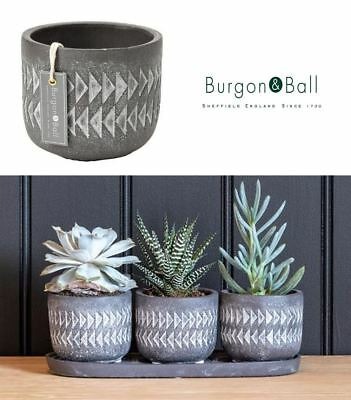 Burgon & Ball Aztec Plant Pot Indoor House Herb Planter Single or Set 3