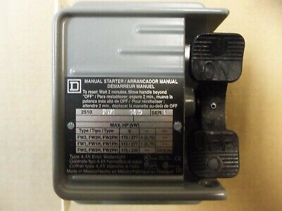 NEW SQUARE D MANUAL STARTER 2510FW1 FHP series B