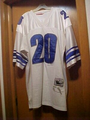 9d17aceafcf Detroit Lions #20 SEWN Barry Sanders 96 Mitchell & Ness Jersey Size 58 4XL  White