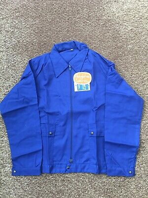French Work Zipped Jacket Royal Blue Deadstock Vintage Adolphe Lafont