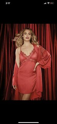 Bras N Things Sexy Sleepwear Slip Red Lace