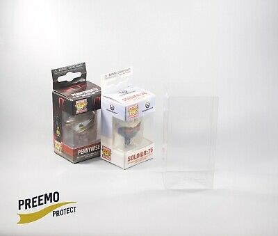 Funko Pocket Pop! Keychain Protectors - Acid Free - Crystal Clear - 5 to 50 pack
