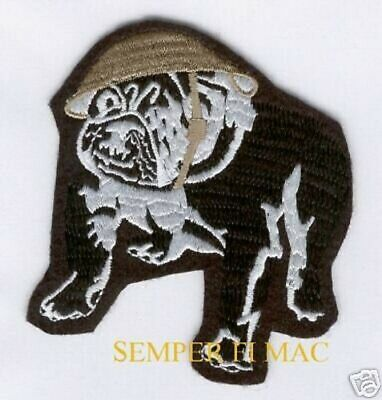 US MARINES BULLDOG HAT PATCH DEVIL DOG USMC CHESTY HELMET Teufel Hunden MARINE