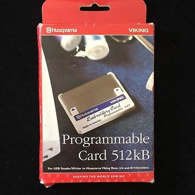 Husqvarna Viking 512 Kb Programmable Embroidery Designs Card
