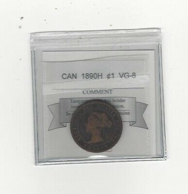 1890H  Coin Mart Graded Canadian, Large One Cent, VG-8