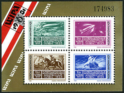 Hungary 2696 S/S, MNH. WIPA Phil. Exhib. Stamp on Stamp. Transportation, 1981