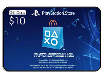 $10.00 PlayStation Store (instant) [Digital code]