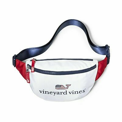 NWT Vineyard Vines for Target Flag Whale Fanny Pack Red White & Blue USA