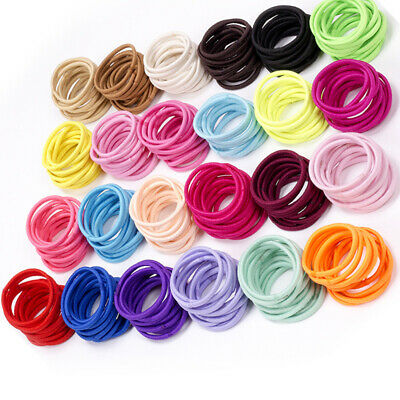 100Pcs Kids Girl Elastic Rope Hair Ties Ponytail Holder Head Band Hairbands Bs