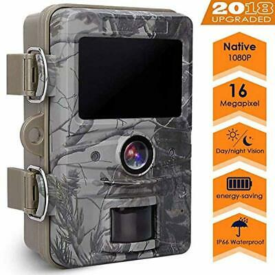 AGM Game Trail Camera, 16MP 1080P Wildlife Camera IP66 Waterproof with 120°Wide
