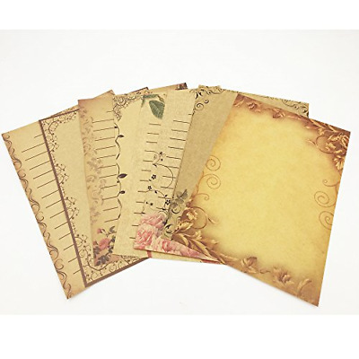 64 Sheets Vintage Stationary Paper Set Antique Style Writing Letter Lined Papers