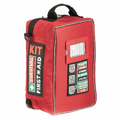 Survival First Aid Kit - Workplace Compliant 140 pieces  Compact Oz Design