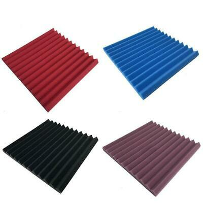 1/12pcs Sound Absorber Acoustic Panels Studio Foam Wedge Soundproofing New