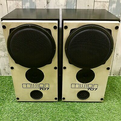 Retro Mission Electronic 707 HiFi Vintage 100w Stereo Speakers - Made In England