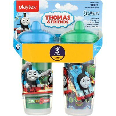 3 Pack Playtex Sipsters Spout Cup, Stage 3, Thomas & Friends, 9 oz, 2 Ct