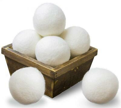 SnugPad Wool Dryer Balls by 6-Pack, XL Size Premium Reusable Natural Fabric...