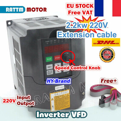 【FR】2.2KW 220V HY VFD Inverter Driver Variable Frequency Speed Control CNC Kit