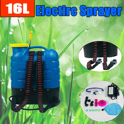 16L Electric Rechargeable  Weed&Pest Sprayer Backpack Farm Garden Pump Spray