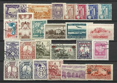 SYRIA COUNTRY STAMP COLLECTION PACKET of 25 DIFFERENT Stamps Mint & Used