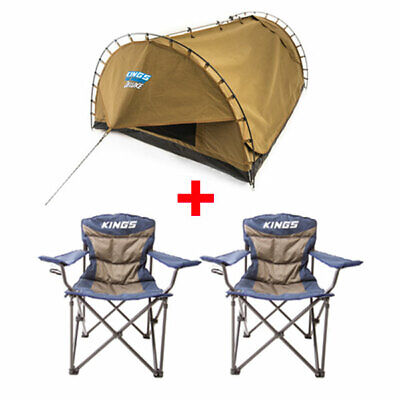 Adventure Kings Double Swag Big Daddy Deluxe + 2x Adventure Kings Throne Camping