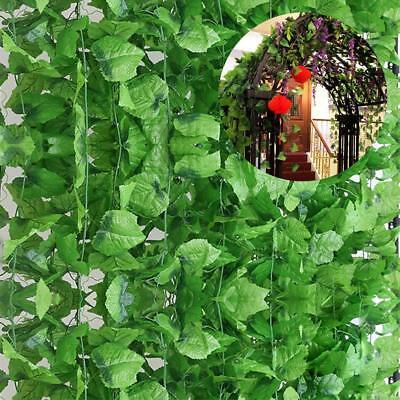82ft Artificial Grape Ivy Vine Leaf Garland Plants Green Fake Foliage-Decoration