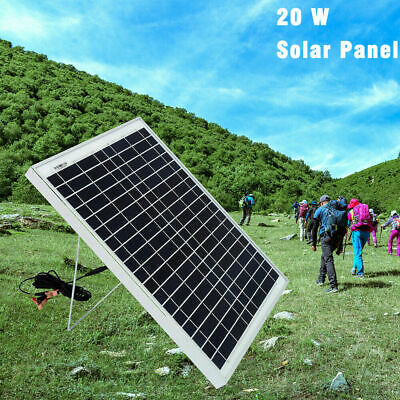 30W Solar Panel Portable Kit+PWM 5A Battery Charger 12V Camping Caravan Boat