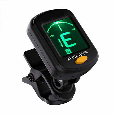 Electric Guitar Tuner LCD Clip-on Chromatic Acoustic Bass Ukulele Violin banjo #