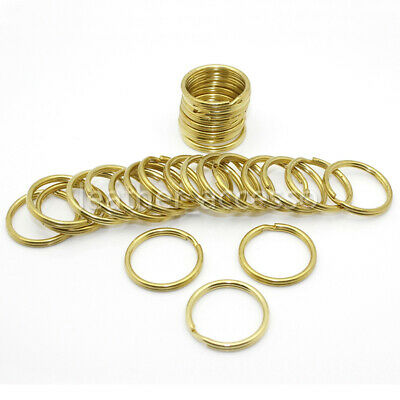 5pcs Solid Brass Double Loop Split Jump Ring Keyring Craft Clasp Connect 10-38mm