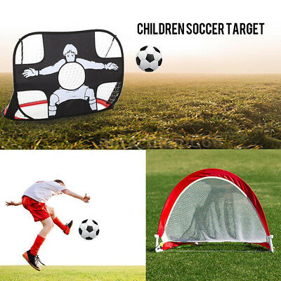f22a81dc1 2pcs Pop Up Soccer Goal Sets 2 Collapsible Portable Football Nets Funny  Game UK