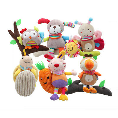 Baby Infant Rattles Plush Animal Stroller Hanging Bell Play Toy Doll Soft Bed NE