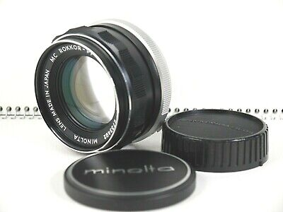 [Near MINT] Minolta MC ROKKOR-PF 55mm F1.7 MF Standard Lens MD Mount From Japan