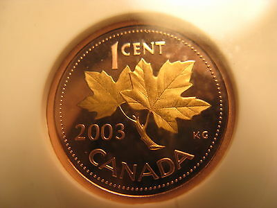 Canada 2003 Rare Gold Plated Penny Certified PF 68 Ultra Red Cameo.