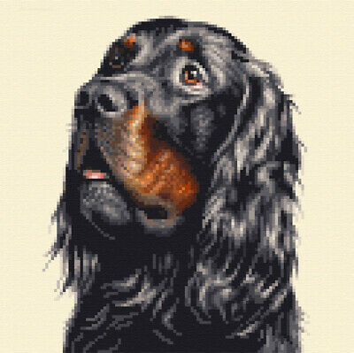 GORDON SETTER dog, pup - Full counted cross stitch kit *All materials supplied