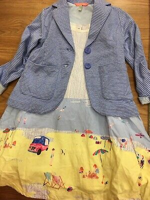 Girls Joules Dress Age 4 Years And Matching Jacket Worn Once Seaside Dress