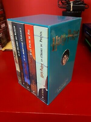Livres Harry Potter Coffret Tome 1 A Tome 5 J K Rowling