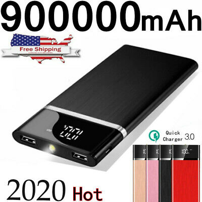 2019 New Portable External Battery Huge Capacity Power Bank 500000mAh Charger