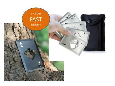 5pcs Metal Outdoor Concealed Poker Playing Cards Throwing Toy Cool Bottle Opener