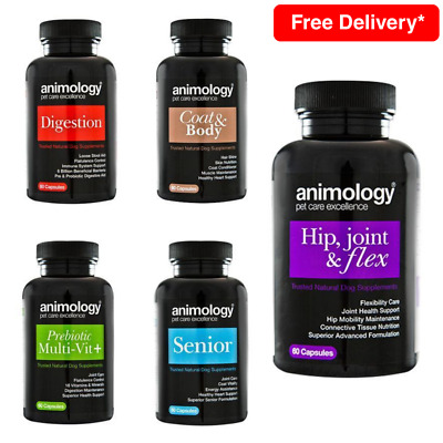 Animology Dog Puppy Daily Supplements Vitamins Joint Digestion Coat Tablets 60pc