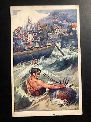 1915 Uhersky Brod Austria Empire Picture Postcard Cover to Vienna Marines Missio