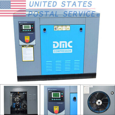 HPDMC 10HP 230v Rotary Screw Air Compressor 39cfm 115psi Single Phase Electrical