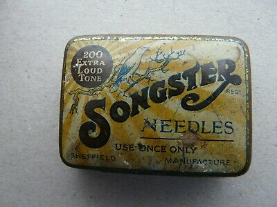 Old Tin with Gramophone Needles-Songster Extra Loud Tone