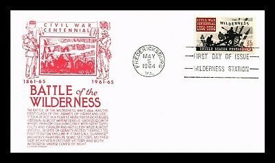 Dr Jim Stamps Us Battle Of Wilderness Civil War Fdc Cover Cs Anderson Scott 1181