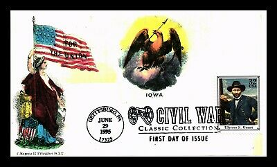Dr Jim Stamps Us General Ulysses S Grant Civil War First Day Cover Gettysburg