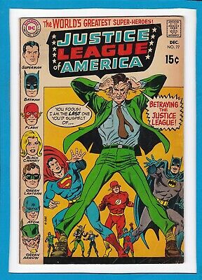 "Justice League Of America #77_December 1969_Fine+_""Betrayed""_Silver Age Dc!"