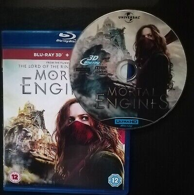 Mortal Engines 3D BLU RAY (no region codes needed)