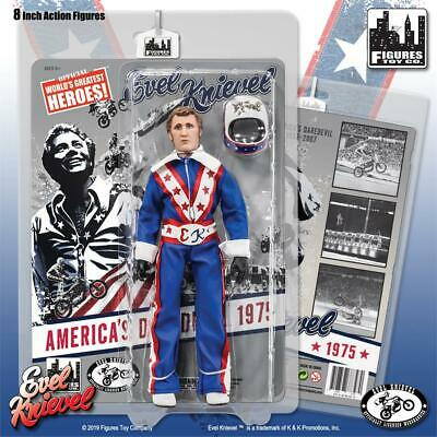 Evel Knievel 8 Inch Action Figures Series Red /& White Hockey Variant